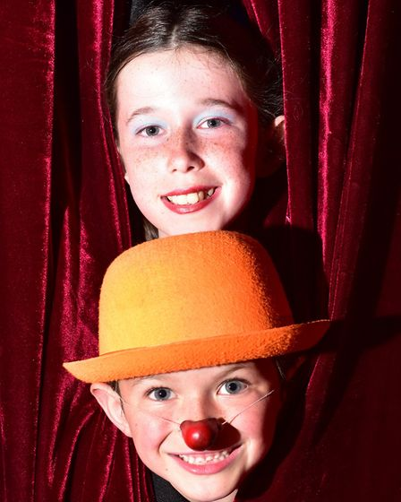 Laken, 8, and Tyanna, 11, who also perform with Circus Tyanna. Picture: Nick Butcher