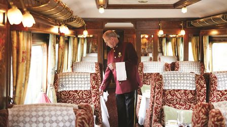 The vinatge carriage on the Northern Belle festive service. Picture Northern Belle.
