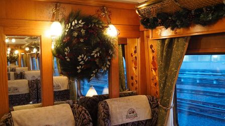 A Northern Belle carriage decorated for the festive service. Picture Northern Belle.