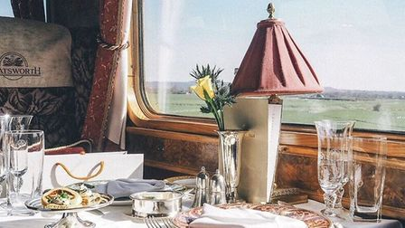 The window seat on the Northern Belle festive service. Picture Northern Belle.