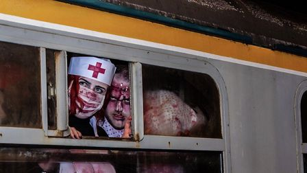 Opening night on the Loco Horror Train on the Mid-Norfolk Railway, in Dereham. Picture: HARDY SUTOTO