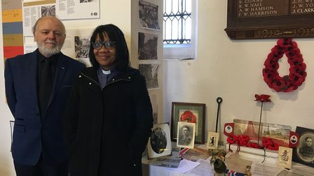 Mr Richard Parr and Rev Kathleen Kerr collaborated to put exhibition together honouring local men fr