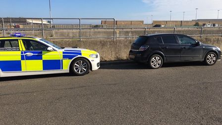 A driver had their vehicle seized in Gorleston this afternoon. Picture: Norfolk Police