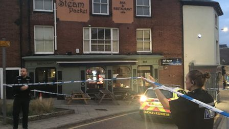 Norfolk police cordoned off The Steam Packet, on Crown Road, on Saturday (October 20) following the