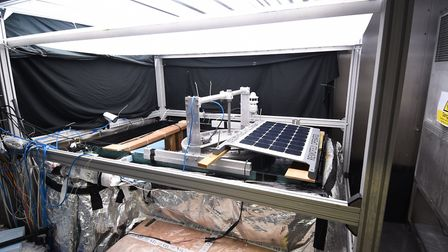 Tests on the AutoNaut' robot at the UEA. Picture: ANTONY KELLY