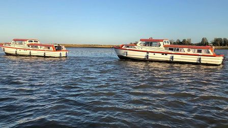 Great Yarmouth and Gorleston RNLI volunteer crew launched to rescue 21 people on the Norfolk Broads.