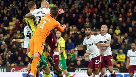 Jordan Rhodes equalised for Norwich City early in the second half Picture: Paul Chesterton/Focus Ima