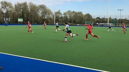 Action from Dereham Ladies' 2-1 win at Cambridge University Picture: BECKY LOVEDAY