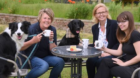 Kathryn Cross, second right, at Centre Paws Norfolk at Barnards Farm at Wymondham. With her from lef