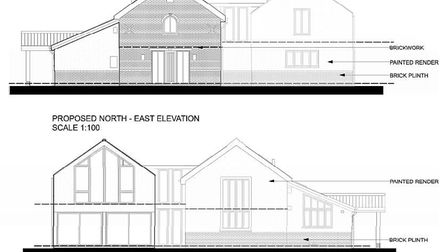 Plans for the expansion of the former primitive Methodist chapel in Kenninghall. Picture: Breckland