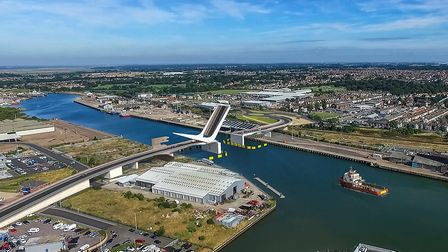 An artist's impression of tthe Lake Lothing Third Crossing in Lowestoft. Picture: Suffolk County Cou