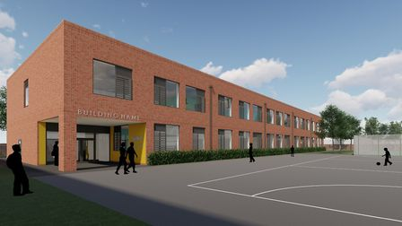 The proposed new science block at Great Yarmouth Charter Academy in Salisbury Road, Great Yarmouth.