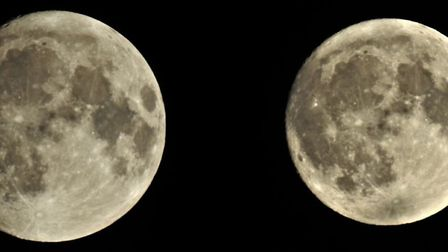 The moon a few nights before it reached full illumination. Photo: Dave Stapleton