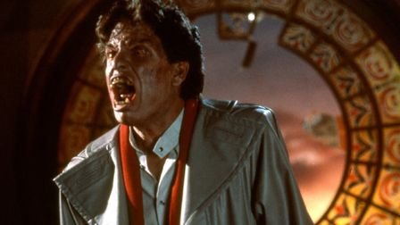 Howling at the moon - Chris Sarandon is the vampire Jerry Dandrige in the classic original version o