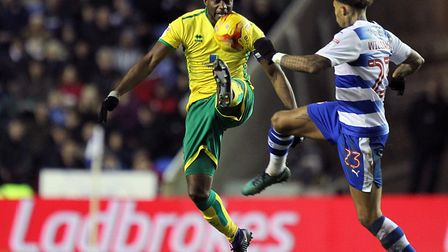 Sebastien Bassong in action for Norwich during the 2016-17 Championship season Picture: Paul Chester