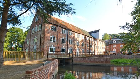 Aylsham watermill: beautifully restored and where the last home is for sale. Pic: www.arnoldskeys.co