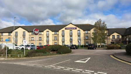 """A businessman watched in horror as a Premier Inn guest """"kicked another man's face in"""" outside his ro"""