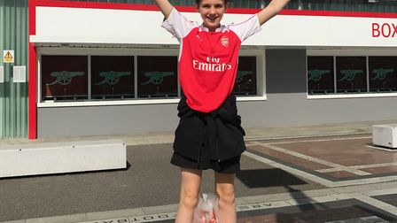 Betty Booker on a trip to the Emirates. Picture: Sam Booker