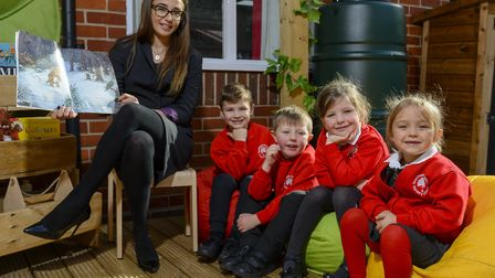 Avant Homes recently built a garden reading area for the children at Swaffham Infant and Nursery Sch