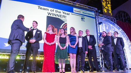 Eastern Daily Press Stars of Norfolk and Waveney Awards ceremony 2017 at St Andrews Hall, Norwich.NA