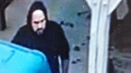 Police want to speak to this man after a burglary in which tools were stolen picture: Norfolk Cons