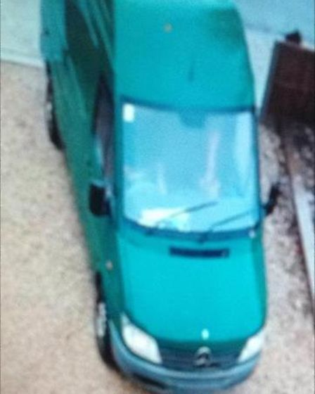 Police are also trying to trace this green Mercedes van Picture: Norfolk Constabulary