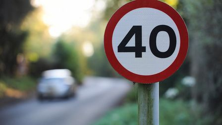 A 40 mph sign in Norfolk. Picture: Ian Burt
