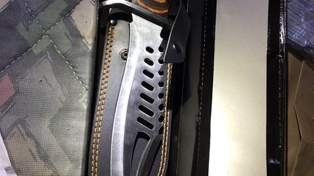 A knife seized by King's Lynn Police on October 27. PHOTO: King's Lynn Police