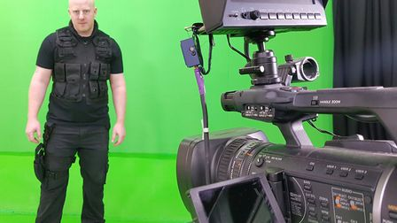 Norwich-based actor Matt Long filming part of his film Soldiers of Embers. Picture: Matt Long