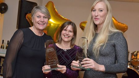 The Inspirational Leader Award was given to Healthy Child Programme Lead Kate Ryczanowski (centre) a