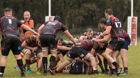 Norwich secure a ruck during last week's win over South Woodham Ferrers at Beeston Hyrne Picture: AN
