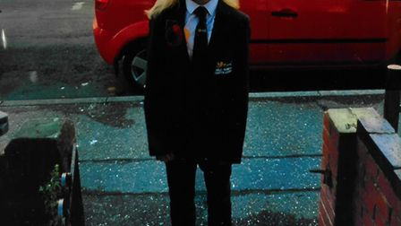 A schoolgirl's knitted poppy has fallen foul of uniform rules at a Great Yarmouth academy Picture: R