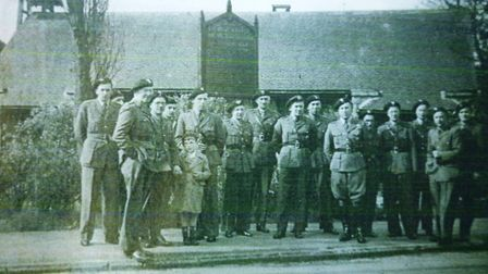 Polish soldiers outside the church Picture: The Polish Institute and Sikorski Museum - London