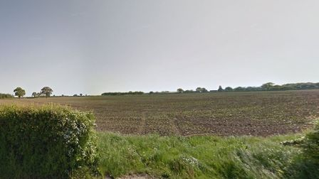 Land off Silfield Road which could be developed as part of a 6,500 garden village. Picture: Google