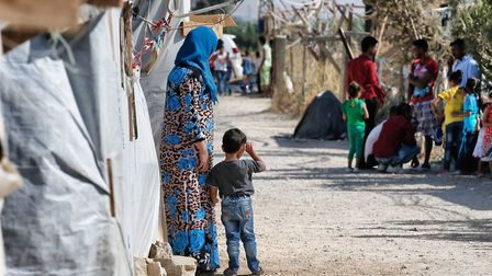Syrian refugees in the Bekaa Valley in Lebanon. Picture: Bruno Fahy/PA Images