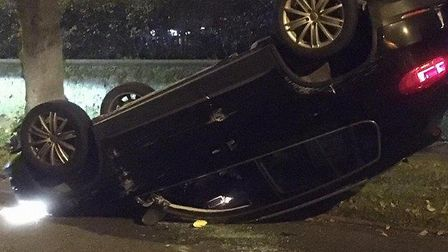 Man arrested on suspicion of drink driving following crash in Norwich