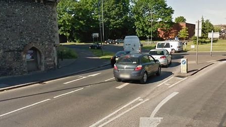 A driver has been arrested after after colliding with a cyclist at the Barrack Street near the Puppe