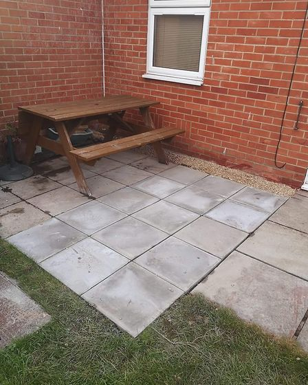 The slabs have now been replaced. Photo: Anne Baxter.