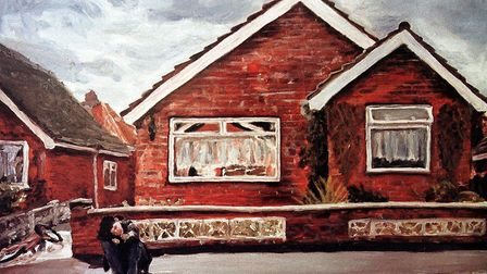 Michelle Heron's painting for a competition (C) Michelle Heron