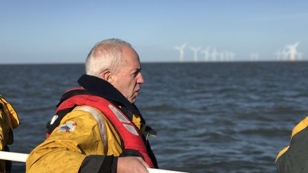 The Most Rev Justin Welby on baord the Caister lifeboat. Picture: Neil Didsbury