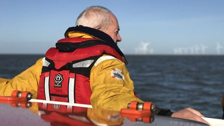 The Archbishop of Canterbury, The Most Rev Justin Welby on board the Caister lifeboat. Picture: Neil