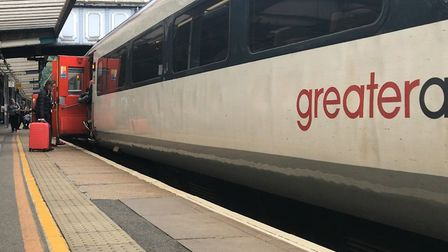 Greater Anglia train at station