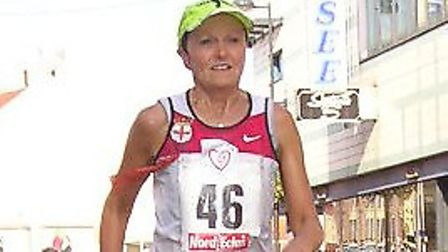 Cath Duhig - one of the UK's finest ever race walkers. Picture: Pete Duhig
