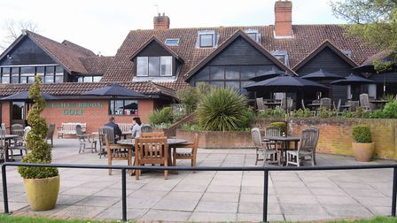 The Terrace at the Barnham Broom Hotel, Golf and Spa. Picture: DENISE BRADLEY