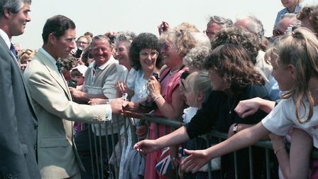 Prince Charles at the Walton-on-Naze Coastguard HQ in May 1989. Picture: ARCHANT