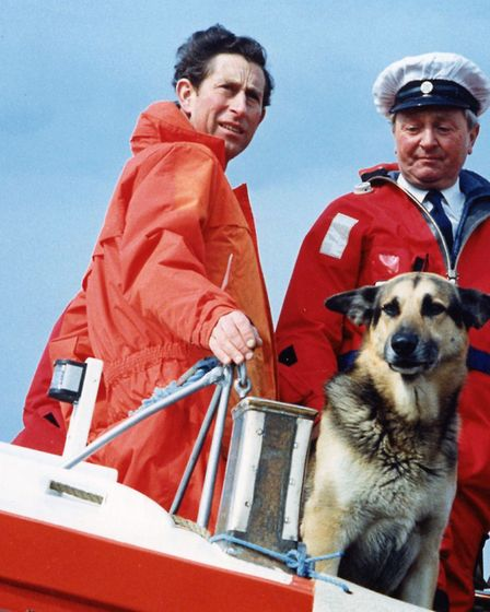 Prince Charles on a lifeboat in Norfolk, July 1991. Picture: ARCHANT LIBRARY