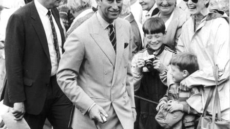 Prince Charles at the Sandringham Show, July 1988. Picture: Archant Library