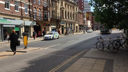 Police were called to Barclays bank in Red Lion Street in Norwich. Picture Archant.