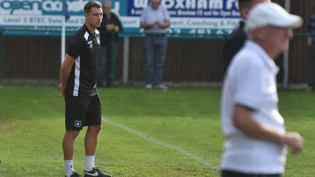 Wroxham boss Jordan Southgate has led his side's rise up the table. Picture: Sonya Duncan