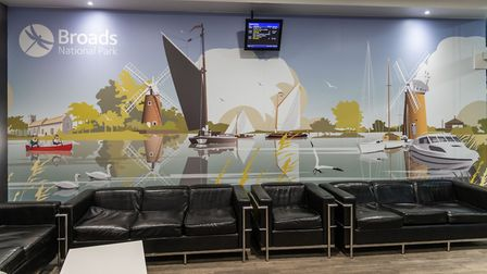 The artwork in the waiting room. Picture: The Broads Authority